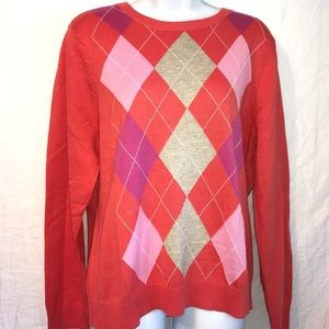 IZOD Argyles comfy and classic sweater